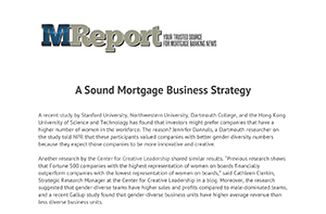 A Sound Mortgage Business Strategy